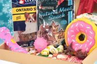 Cherryn Vánoční box pro malé psy s pamlsky a hračkami dle výběru – verze pro kluky i holky. Včetně sváteční mašle. (2)