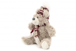 Hračka pro psy od ROSEWOOD – lední medvěd. Hračka je vyrobená z huňaté kožešinky, je vycpaná a při stisknutí píská. Velikost cca 30 cm. (2)