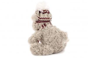 Hračka pro psy od ROSEWOOD – lední medvěd. Hračka je vyrobená z huňaté kožešinky, je vycpaná a při stisknutí píská. Velikost cca 30 cm. (3)