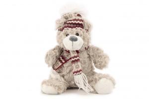 Hračka pro psy od ROSEWOOD – lední medvěd. Hračka je vyrobená z huňaté kožešinky, je vycpaná a při stisknutí píská. Velikost cca 30 cm.