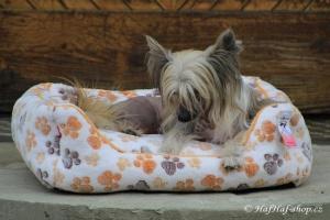 FOTO – Plyšový pelíšek pro psy od For My Dogs. Měkoučké bočnice, nadýchaný vyjímatelný polštář, celý pelíšek je vyrobený z plyšového flísu. Barva béžová (3).