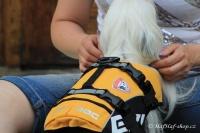 FOTO – plovací vesta pro psy od EZYDOG s unikátní vztlakovou pěnou, reflexními prvky a pohodlnou a promyšlenou konstrukcí, žlutá.