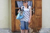 FOTO – Luxusní prostorná kabelka/taška na psy z kolekce Urban Pup, řada Summer Rose. Doporučená maximální váha psa 8 kg (4).