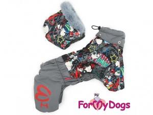 Obleček pro psy – šedý zimní overal For My Dogs SNOOPY