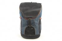 Batoh na psa s nosností 8 kg. Polstrovaná zádní strana, pevné skořepinové dno, hrudní pás pro rozložení váhy, vyjímatelná podložka. Barva modro-černá. (2)