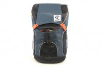 Batoh na psa s nosností 8 kg. Polstrovaná zádní strana, pevné skořepinové dno, hrudní pás pro rozložení váhy, vyjímatelná podložka. Barva modro-černá.
