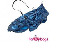Obleček pro psy i fenky malých až středních plemen – stylová pláštěnka BLUE JACKET od ForMyDogs. Zapínání na sponu, hladká podšívka. (3)