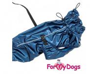 Obleček pro psy i fenky malých až středních plemen – stylová pláštěnka BLUE JACKET od ForMyDogs. Zapínání na sponu, hladká podšívka. (4)