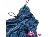 Obleček pro psy i fenky malých až středních plemen – stylová pláštěnka BLUE JACKET od ForMyDogs. Zapínání na sponu, hladká podšívka. (5)