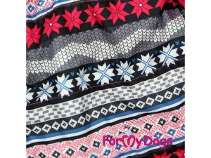 Obleček pro psy i fenky – růžová zimní bunda For My Dogs, detail