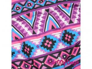 Obleček pro fenky – fialová zimní bunda od FMD, detail
