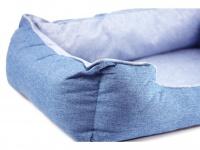 Chladící pelíšek je ideální řešení, jak zajistit svým psům klidný spánek a odpočinek i za těch nejparnějších letních dnů. Modrý. (detail)