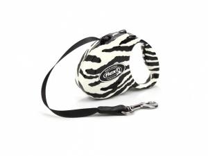 Flexi vodítko pro malé psy – vzor zebra