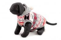 Stylový flísový svetr pro psy se svátečním motivem. Svetr je elastický a snadno se přizpůsobí každému obvodu hrudníku, tři velikosti na výběr. (2)