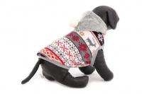 Stylový flísový svetr pro psy se svátečním motivem. Svetr je elastický a snadno se přizpůsobí každému obvodu hrudníku, tři velikosti na výběr. (4)