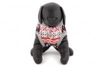 Stylový flísový svetr pro psy se svátečním motivem. Svetr je elastický a snadno se přizpůsobí každému obvodu hrudníku, tři velikosti na výběr. (6)