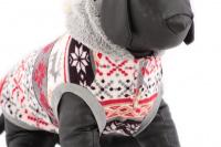 Stylový flísový svetr pro psy se svátečním motivem. Svetr je elastický a snadno se přizpůsobí každému obvodu hrudníku, tři velikosti na výběr. (8)