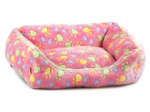 Luxusní růžový pelíšek pro psy od FMD vhodný pro malá až střední plemena (pohled 2)