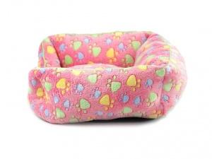 Luxusní růžový pelíšek pro psy od FMD vhodný pro malá až střední plemena (pohled 3)