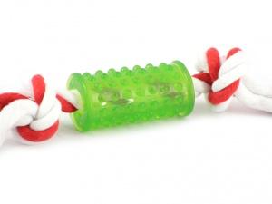 Kousací hračka pro malé psy z gumy s provlečeným bavlněným provazem (2)
