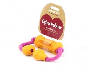 Gumová dentální hračka pro psy, která při žvýkání pročišťuje chrup a zabraňuje vzniku zubního kamene