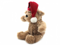Vánoční pískací hračka pro psy od ROSEWOOD – roztomilý plyšový medvídek s červenou čepičkou. Měkoučký materiál, velikost cca 32 cm. (4)