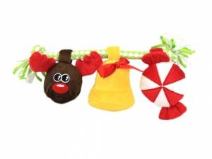 Hračka pro psy z měkoučkého materiálu kombinovaného s provazem (2)