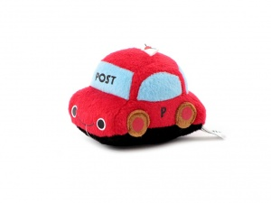 Roztomilá plyšová pískací hračka pro psy od URBAN PUP – červené auto