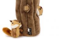 Plyšová hračka pro psy – kmen stromu + 3 čipmankové. Příjemný měkoučký materiál, ideální pro štěňata a menší plemena psů. (2)