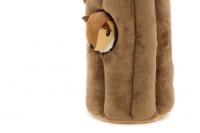 Plyšová hračka pro psy – kmen stromu + 3 čipmankové. Příjemný měkoučký materiál, ideální pro štěňata a menší plemena psů. (3)