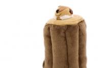 Plyšová hračka pro psy – kmen stromu + 3 čipmankové. Příjemný měkoučký materiál, ideální pro štěňata a menší plemena psů. (4)