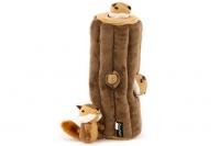 Plyšová hračka pro psy – kmen stromu + 3 čipmankové. Příjemný měkoučký materiál, ideální pro štěňata a menší plemena psů.
