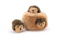 Plyšová hračka pro psy – domeček se třemi ježečky. Příjemný měkoučký materiál, ideální pro štěňata a menší plemena psů. (3)