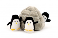 Plyšová hračka pro psy – iglů se třemi tučňáky. Příjemný měkoučký materiál, ideální pro štěňata a menší plemena psů. (2)
