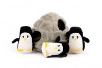 Plyšová hračka pro psy – iglů se třemi tučňáky. Příjemný měkoučký materiál, ideální pro štěňata a menší plemena psů. (4)