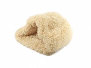 Huňatý pelíšek pro psy i kočky, spací vak – béžový (2)