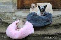 FOTO – Huňatý pelíšek pro psy i kočky od I LOVE PETS – měkké bočnice, vyjímatelný polštář, materiál luxusní soft fleece s dlouhým vlasem, růžový (4).