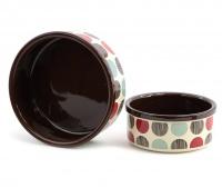 Praktická keramická miska pro psy s barevným potiskem. Výběr velikostí pro všechna plemena psů. (2)