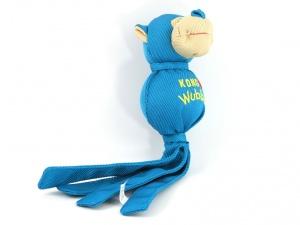 Odolná přetahovací a aportovací hračka pro psy od KONG. Pevný materiál, při stisknutí píská (3)