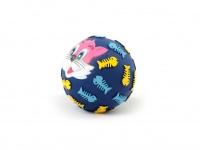 Gumový míček pro psy vydávající legrační zvuk. Průměr míčku 10 cm, mix barev a vzorů (2)