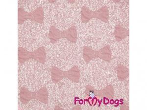 Oblečky pro psy i fenky – růžová mikina z měkké pleteniny PINK BOW (detail)