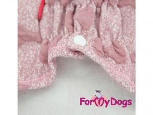 Oblečky pro psy i fenky – růžová mikina z měkké pleteniny PINK BOW (detail 2)