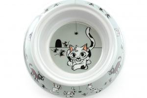Miska pro kočky od CAMON vhodná na vodu i krmivo s tvarovaným okrajem pro snadnou manipulaci. Materiál plast, protiskluzové dno, objem 150 ml. (3)