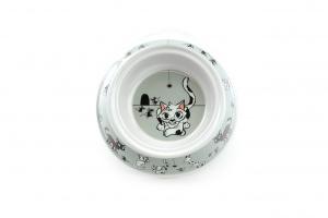 Miska pro kočky od CAMON vhodná na vodu i krmivo s tvarovaným okrajem pro snadnou manipulaci. Materiál plast, protiskluzové dno, objem 150 ml. (2)