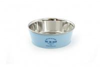 Nerezová miska pro psy v originálním retro designu. Miska je vyjímatelná pro snadné plnění i mytí a je vhodná na vodu i krmivo. Barva modrá.