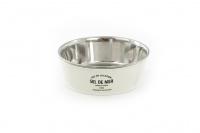 Nerezová miska pro psy v originálním retro designu. Miska je vyjímatelná pro snadné plnění i mytí a je vhodná na vodu i krmivo. Barva bílá.