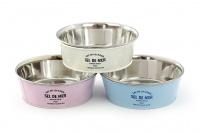 Nerezová miska pro psy v originálním retro designu. Miska je vyjímatelná pro snadné plnění i mytí a je vhodná na vodu i krmivo.