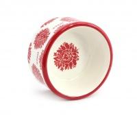 Nádherná keramická miska pro psy s květinovým designem. Velikost je ideální pro malá plemena psů. (5)