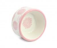 Nádherná keramická miska pro psy s květinovým designem. Velikost je ideální pro malá plemena psů. (7)