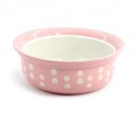 Růžová keramická miska pro psy a kočky vhodná na vodu i krmivo. Výběr velikostí pro všechna plemena, misku lze mýt v myčce. (3)